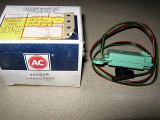 New ACDelco 213 110 Speed Sensor 25007463 (Fits Chevrolet K5 Blazer)