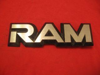 OEM Dodge RAM 50 Emblem 6.4375 x 1.125 Badge Script Letter Decal