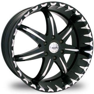 Inch 6X5.0 Noir Black Star 6 Lug +30 Wheels Rims Trailblazer GMC Envoy