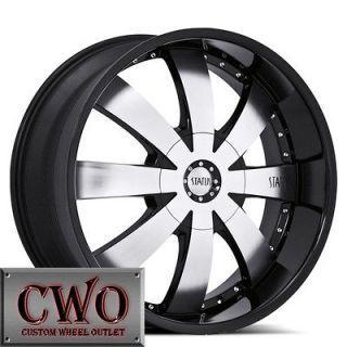 22 Black Status Trooper Wheels Rims 5x150 5 Lug Toyota Tundra Sequoia