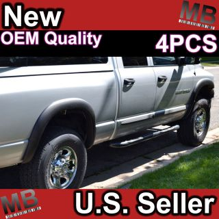 02 08 Dodge RAM Fender Flares Side Cover Scratch Protector Black