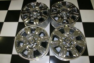 FORD F150 EXPEDITION FACTORY OEM 18 CHROME CLAD WHEELS / RIMS 3785