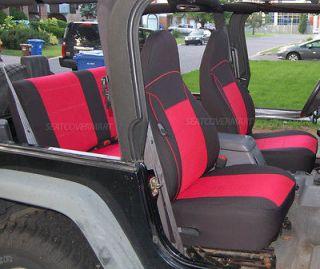 Jeep Wrangler TJ 97 98 99 00 01 Neoprene Car Seat Cover FULL Set RED