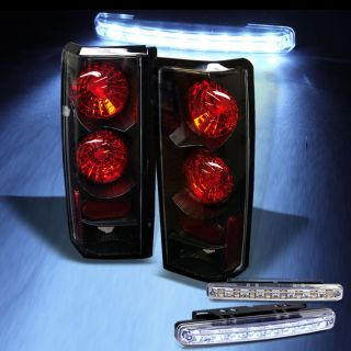 LED Bumper Fog+85 05 Astro Van/GMC Safari Black Tail Lights Lamp Brake