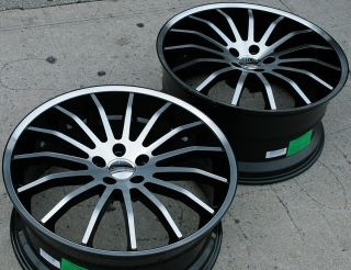 MARTUNI 22 BLACK RIMS WHEELS LEXUS LS460 STAG / 22 X 9.0/10.5 5H +35