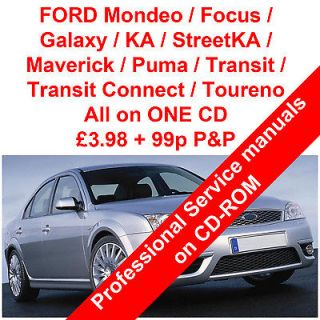 Ford Focus Mondeo Fiesta Cd Workshop Manual Service Manual