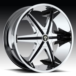 30 DUB BIG HOMIE with SHOOZ Wheel SET 30x10 Chrome Rims RWD 5 & 6 LUG