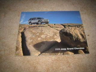2009 Jeep Grand Cherokee Laredo Limited Overland SRT8 sales brochure