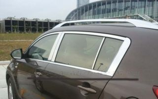 Aluminium Alloy Decorative Silver Roof Rack Fit For Kia Sportage 2011