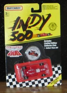 Matchbox Indy 500 A.J. Foyt 1977 Formula One car and Collector Coin