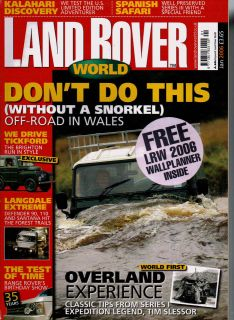 LAND ROVER WORLD MAGAZINE 01/06 LANGDALE QUEST,SANTANA SERIES III,