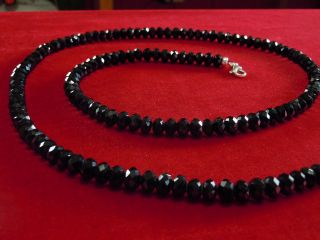 Murrays Dia Black Crystal TV Johnny Rick Ross Bead Chain 32 Inches 8MM