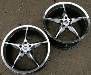ST6 20 H BLACK RIMS WHEELS MERCEDES SL500 SL600 / 20 x 8.5/10 5H +2