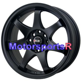 522 Flat Black Concave Rims Wheels 4x100 03 04 05 06 Scion xB xA +25