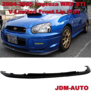 04 05 Subaru Impreza WRX STI CS V Limited Front Bumper Lip Kit JDM PU