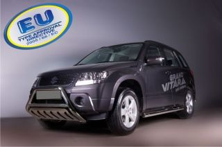 SUZUKI GRAND VITARA Ø70 BULL BAR WITH SKID PLATE CE