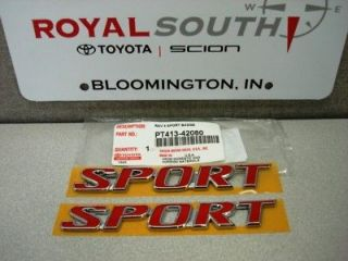 Toyota Rav4 Sport Emblems Genuine OEM OE