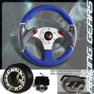 Carbon Fiber Paint Blue PVC Steering Wheel+Hub (Fits 2006 Scion xB
