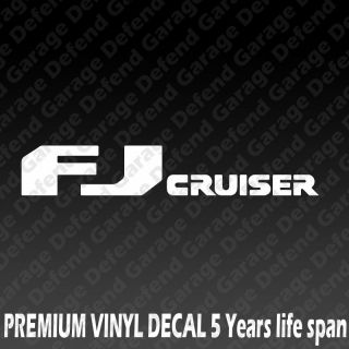 FJ Cruiser Toyota TRD Racing JDM Car Laptop Car Bumper Vinyl Decal