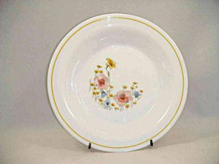 Arcopal France Set of 4 Soup Bowls Pattern ARP11 Multi Colored Flowers