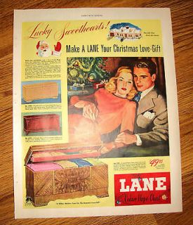 1947 Lane Cedar Hope Chest Ad Christmas Love Gift