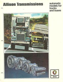 DETROIT DIESEL ALLISON TRANSMISSION BrochureSeries AT 540,MT643,644