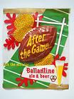 Ballantine Beer Ale Window Sticker Sign 3 D Football Newark NJ