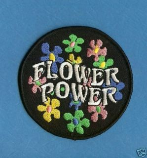 Hippie Flower Power Peace Patch Iron On Crest
