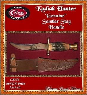 Case Case Burnt Stag Handled Kodiak Hunting Knife