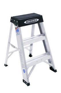 Werner 150B 300 Pound Duty Rating Aluminum Step Stool 2 Foot Tools New