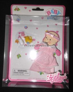 new baby born miniworld doll zapf creations clothes outfit accessories