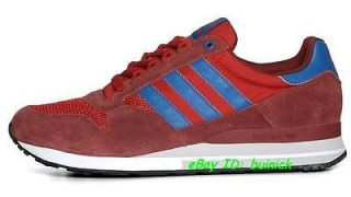 ADIDAS ZX 500 Trainers Red Blue Suede Mesh running marathon 8000 new
