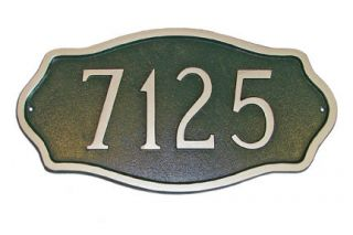 Hamilton Petite Address Plaque Lawn House Sign Numbers wall Custom