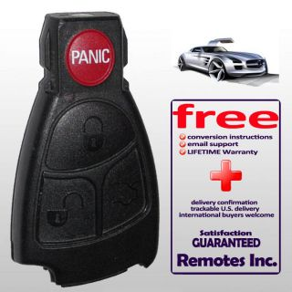 MERCEDES BENZ MB REPLACEMENT KEYLESS REMOTE KEY SHELL CASE FOR REPAIR