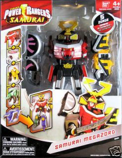 POWER RANGERS SAMURAI MEGAZORD ACTION FIGURE MEGA ZORD BY BANDAI