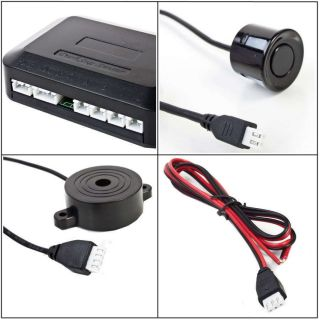 Car Parking Reverse Backup Radar 4 Sensor System Alarm Kit set hot