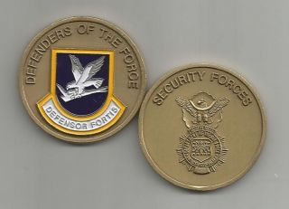 US Air Force Security Forces Defensor Fortis Challenge Coin
