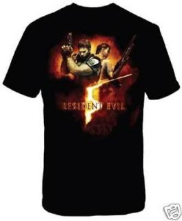 RESIDENT EVIL 5 T Shirt Tee NEW Chris Art (Adult/MEN XL)