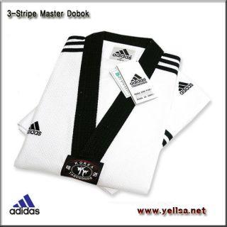 Adidas TaeKwonDo 3 stripe Master Dobok/karatedo/martial arts Uniform