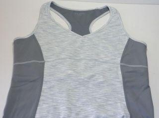 Grey Lycra Supplex Tuff Athletics Womens Yoga Tank Top Active Shirt