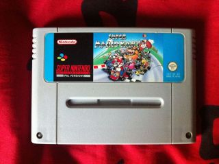 Super Mario Kart SNES Super Nintendo Game Cartridge, Works Great