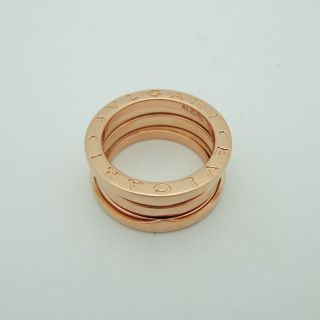 BEAUTIFUL BVLGARI BULGARI 18K ROSE GOLD B ZERO 1 RING/BAND SZ 5