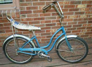 Vintage SCHWINN STINGRAY Girls Bicycle blue BIKE Chicago/Bendix