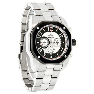 Bulova Marine Star Mens Black Quartz Chronograph Stainless Steel Watch