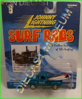 1950 50 FORD F 1 TRUCK PICKUP SURF RODS DIECAST JOHNNY JL LQQK