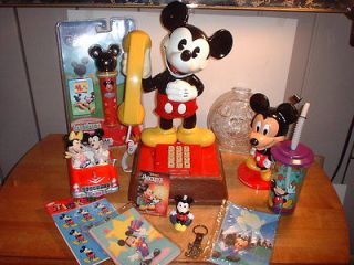 MICKEY MOUSE WALT DISNEY PRODUCTIONS PHONE, PLUS OTHER MICKEY