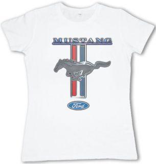 classic Ford Mustang pony logo Ladies size t shirt womens tee shirt