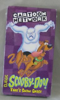 CLASSIC SCOOBY DOO VHS MOVIE THATS SNOW GHOST CARTOON NETWORK NEW