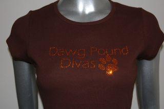Cleveland Browns Dog Pound Divas Rhinestone Tee