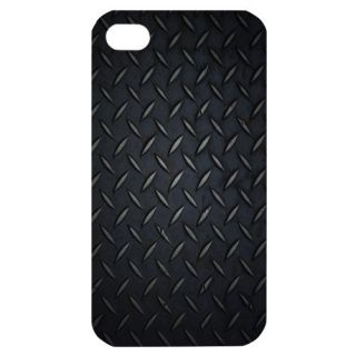 Diamond Plate Trucker Image in iPhone 4 or 4S Hard Plastic Case Cover
